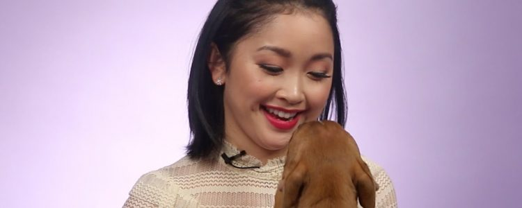 Lana Condor Plays With Puppies While Answering Fan Questions